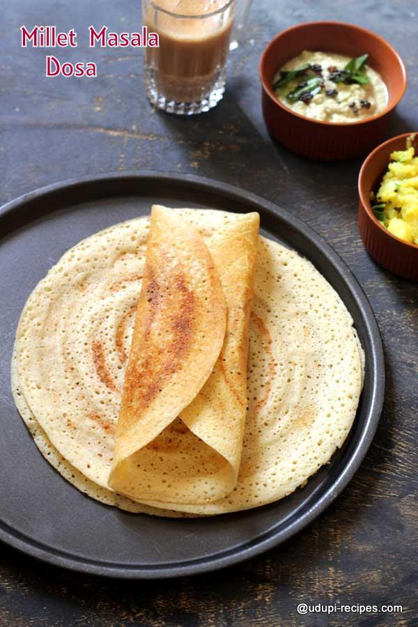 healthy millet masala dosa