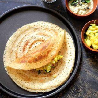 Proso Millet Masala Dosa | Healthy Breakfast