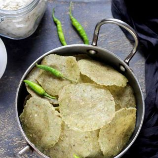 Poha Papad | Rice Flakes Papad | Summer Recipes