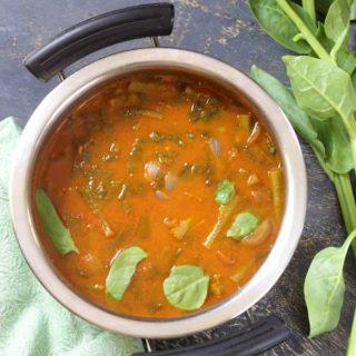 Malabar Spinach Curry | Basale Soppina Huli