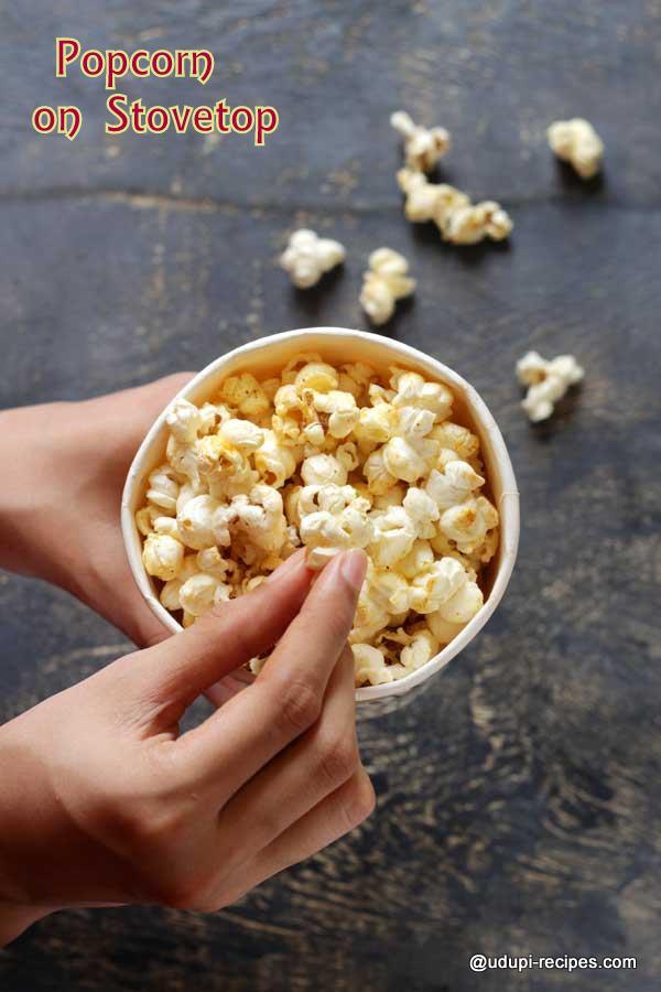homemade popcorn on stovetop