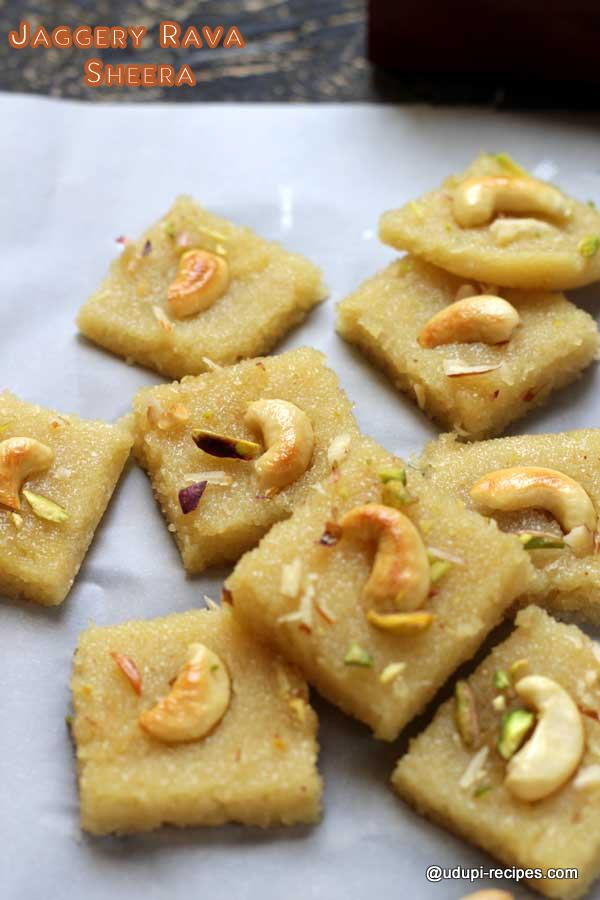 Delicious Jaggery rava sheera