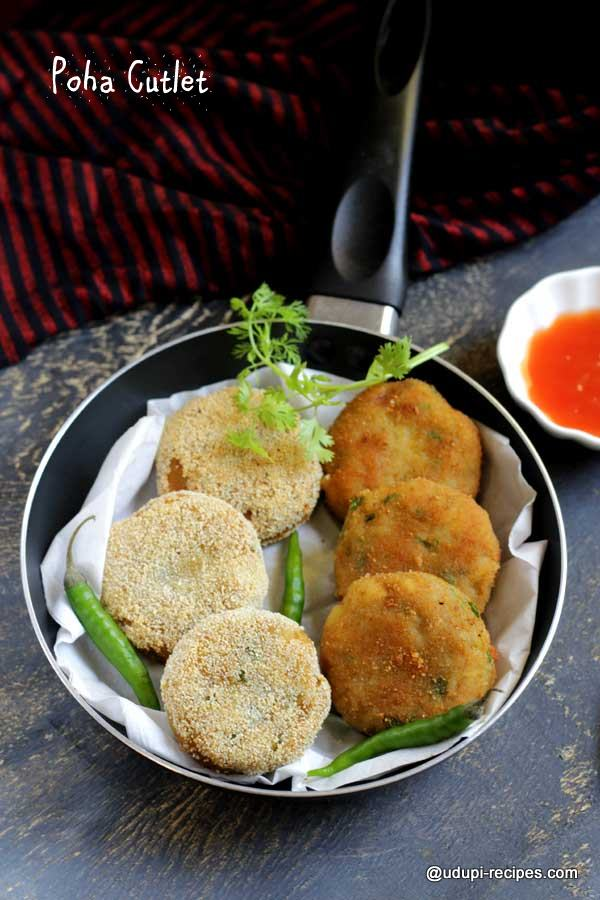 Easy snack poha cutlet