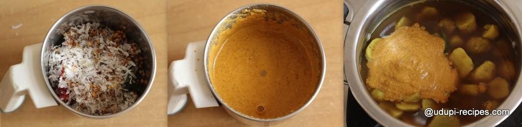 Sambrani Gadde Curry | Chinese Potato Curry Recipe - Udupi Recipes