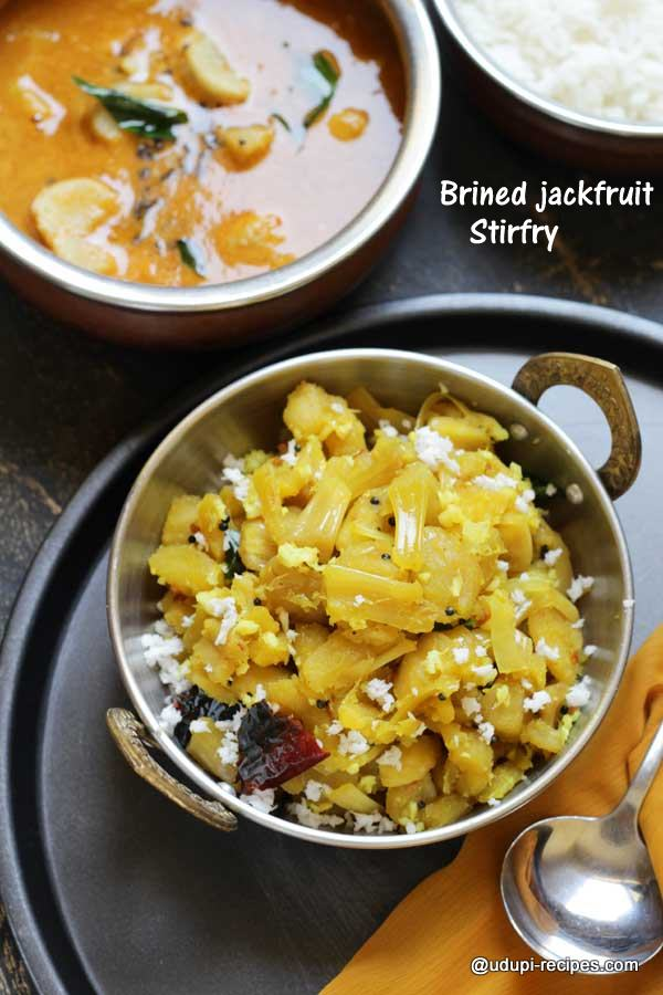 brined jackfruit stirfry