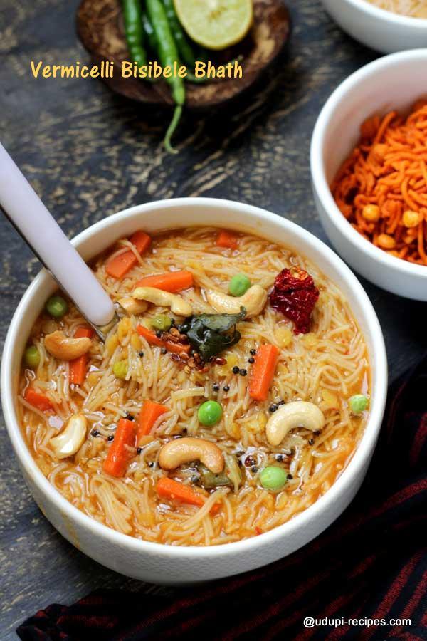delicious vermicelli bisibele bhath