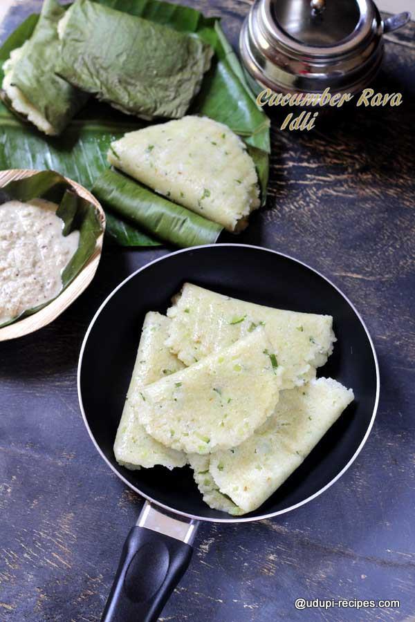 delicious cucumber rava idli