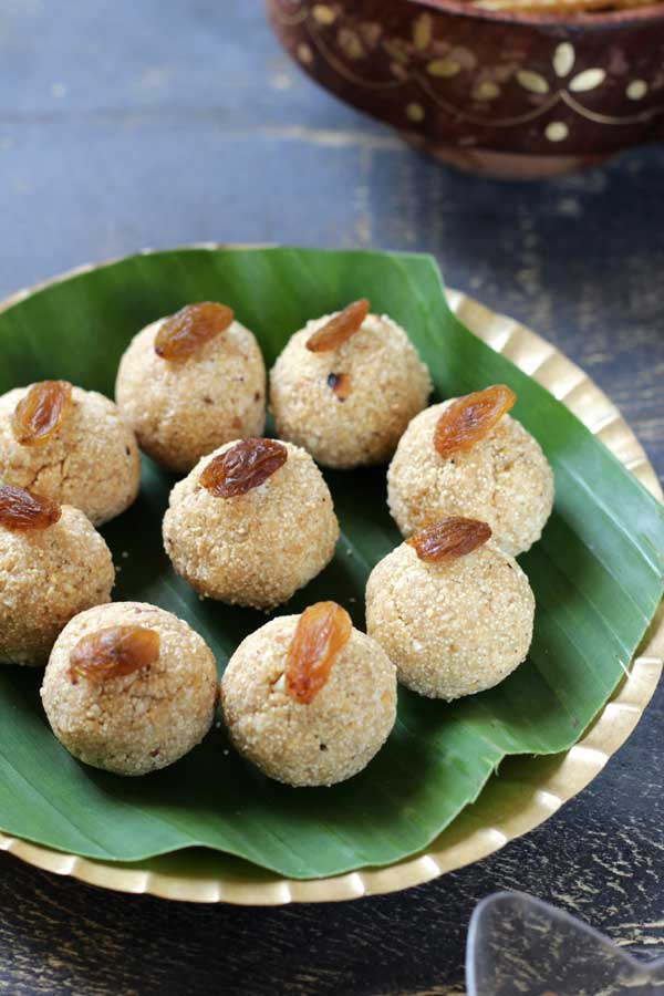 healthy rava jaggery laddu