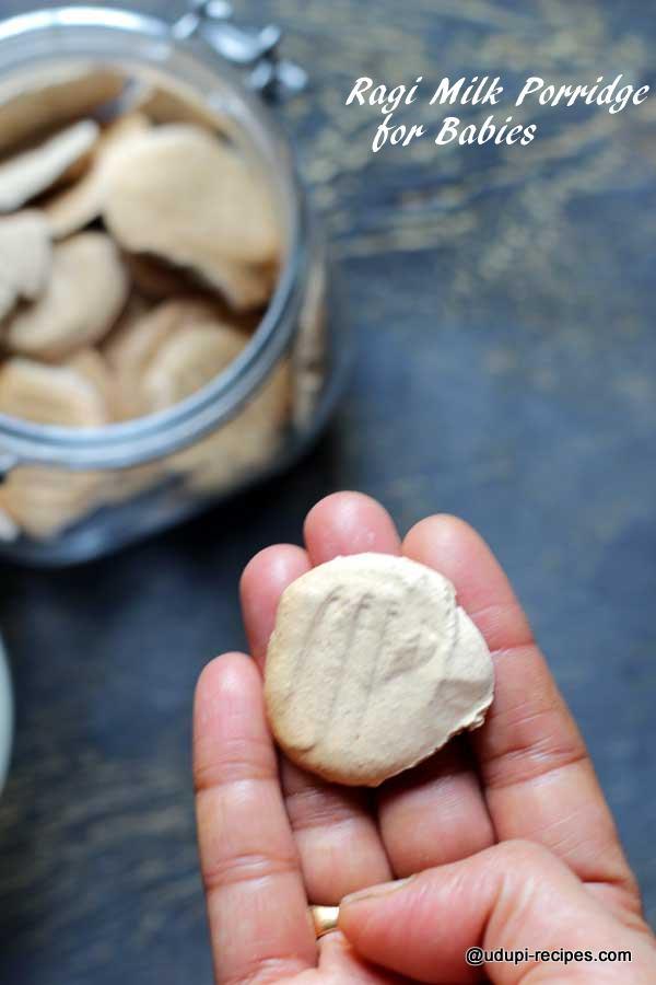 Ragi milk biscuit for porridge