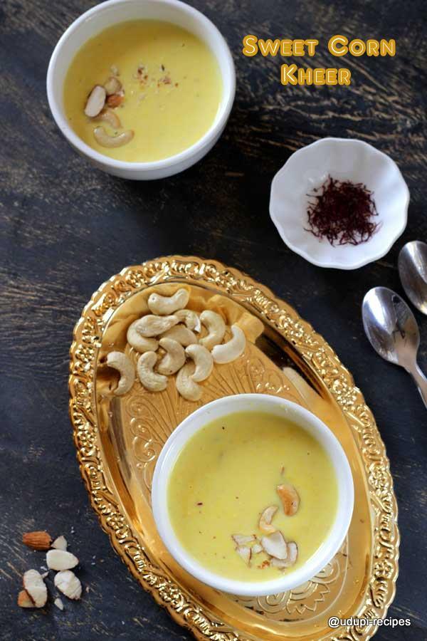 sweet corn kheer -delicious