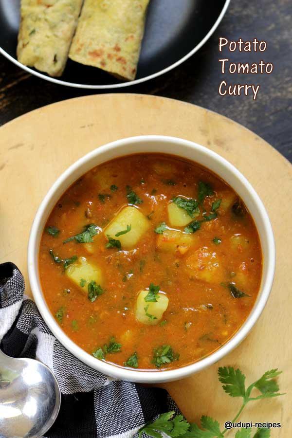 Delicious potato tomato curry