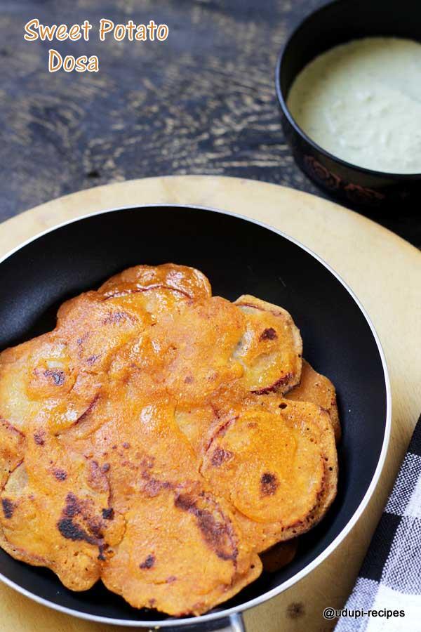 Sweet potato dosa