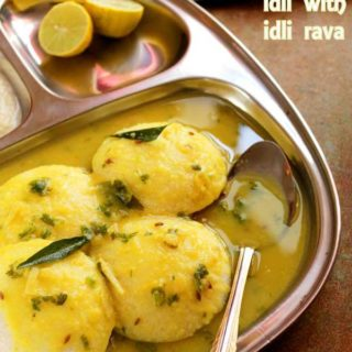 Easy idli with idli rava